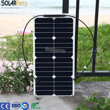 Módulo para 12 Bateria com os Carregador de Celular com os EUA Solarparts 1×25 W Painel Solar Flexível Mono V EUA DIY Kits de Células Solares com Conector MC4
