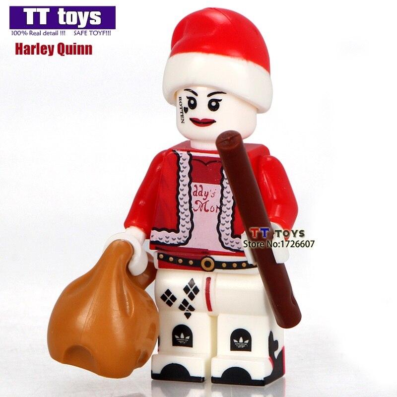 20pcslot pg977 santa claus harley quinn christmas cartoon mini dolls building block best children xmas children gift toys in blocks from toys hobbies on