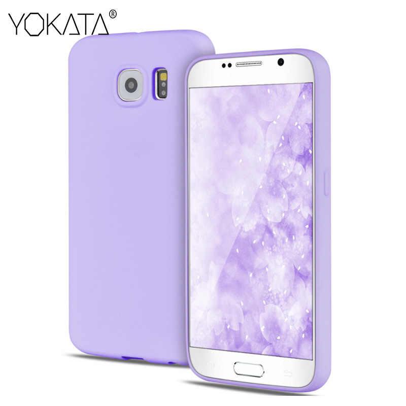 Yokata – jolie coque en caoutchouc souple pour filles, étui en TPU pour Samsung Galaxy S5 S6 S7 Edge S8 S9 Plus couleur bonbon