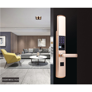 Image 2 - スマート家電ドアロック大型屋内セキュリティドアロック携帯アプリによるリモート制御パスワード指紋緊急キー