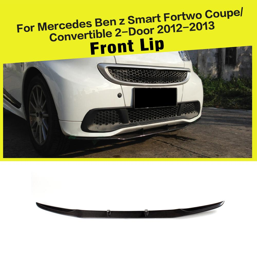 Aliexpress.com : Buy Carbon Fiber Car Front Bumper Lip Chin Spoiler Cover for Smart Fortwo Coupe Convertible 2 Door 2012 2013 from Reliable front bumper lip ...