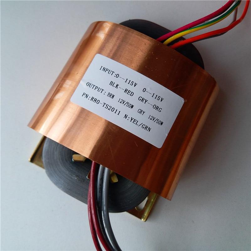 12V 4.16A 12V 4.16A R Core Transformer 100VA R80 custom transformer 115/115V input with copper shield output for Power amplifier cc3d revo power distribution board with dual bec 5v 12v output for qav250 with copper shield cover sku 11806