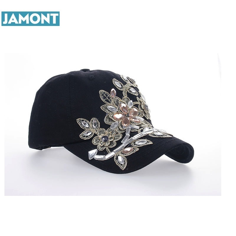 2018 Women Variety Rhinestone Crystal Shining Studded Cotton Denim Visor  Hat Bling Adjustable Baseball Caps Free Shipping-in Baseball Caps from  Apparel ... 84ac8c1685d0