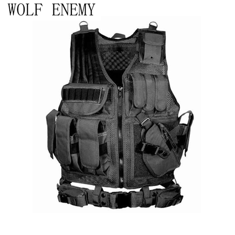 Police Military Tactical Vest Wargame Body Armor Sports Wear Hunting Vest CS Outdoor Products Equipment with 5 Colors Pakistan