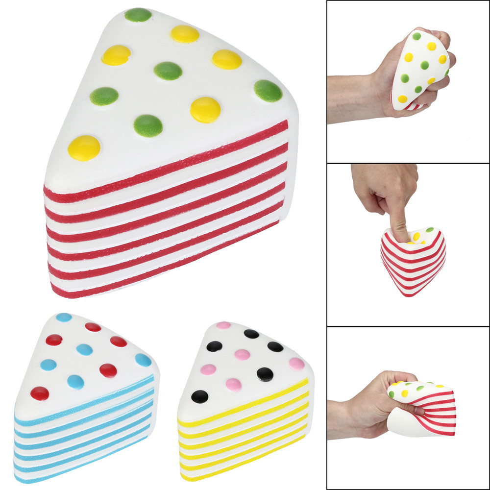 HIINST antistress ball 10cm Squishies Jumbo Yummy Cake Slow Rising Squeeze Stress Reliever Charm Toy MAY22HY