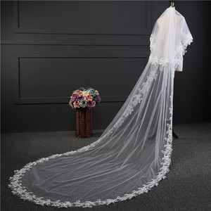 Image 3 - wedding accessories 3 meter blusher wedding veil long wedding veil bridal veils  veils for bride with comb WAS10072