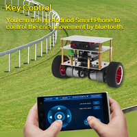 diy car OSOYOO RC Two Wheel Self Balancing Robot Car Kit for OSOYOO DIY Educational Starter Kit, Bluetooth Remote Control by Android (3)