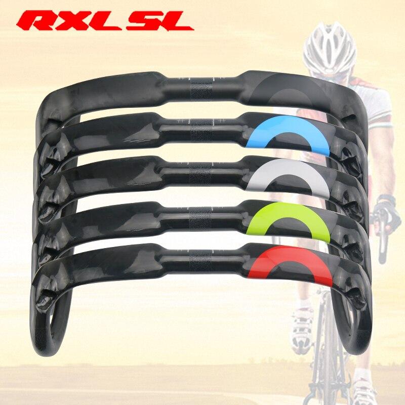 где купить RXL SL Bicycle Winding Handlebar 400/420/440mm Carbon Fiber Handlebars Bicycle Bent Bar Tape UD Matte/Gloss Road Handlebar по лучшей цене