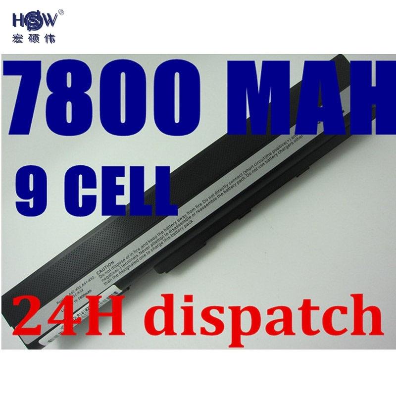где купить HSW 9CELL 7800MAH laptop battery for Asus A52 A52J K42 K42F K52F K52J Series,70-NXM1B2200Z A31-K52 A32-K52 A41-K52 A42-K52 по лучшей цене