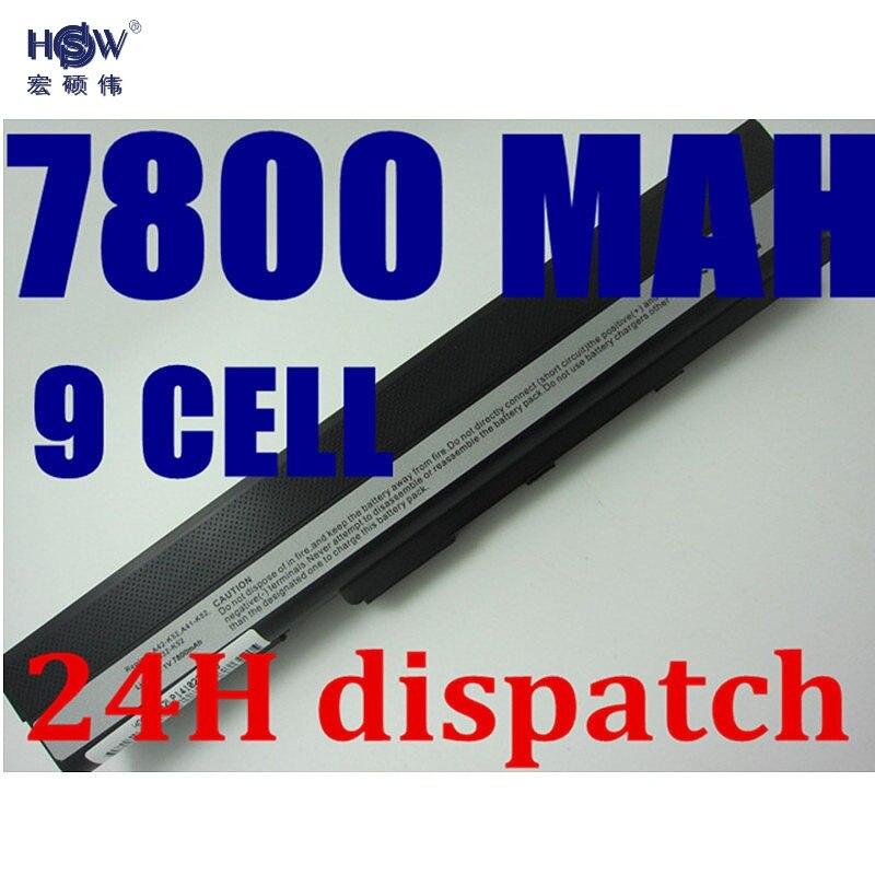HSW 9CELL 7800MAH laptop battery for Asus A52 A52J K42 K42F K52F K52J Series,70-NXM1B2200Z A31-K52 A32-K52 A41-K52 A42-K52 клавиатура topon top 86689 для asus a52 a52f a52j f50 f50s f50q f50z f70 f70sl g51 g51j g51jx g51v g51vx g53 g53jw g60 g60j g60jx g60v g60vx g72 g72gx g73 g73jh k52 k52de k52dr k52f k52j k52jb series black