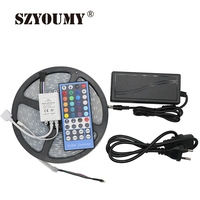 SZYOUMY 5050 RGBW Led Strip 300Leds Waterproof IP67 With Silicone Tube+40Key RGBW IR Remote Controller+12V 5A Power Supply