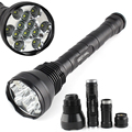 Hotsale  Most Poweful long distance 12T6 13000Lumen brightest cree xml led flashlight 26650 18650 for Outdoor Sports