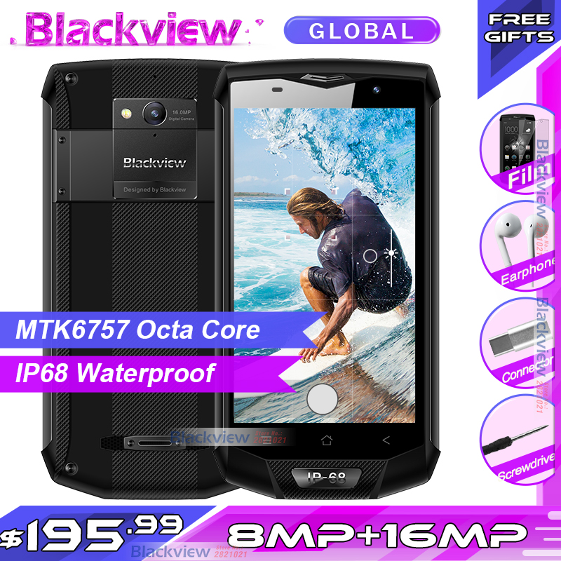 Blackview BV8000 Pro Smartphone FHD MTK6757 Octa Core Android 7 0 6GB RAM 64GB ROM 16MP