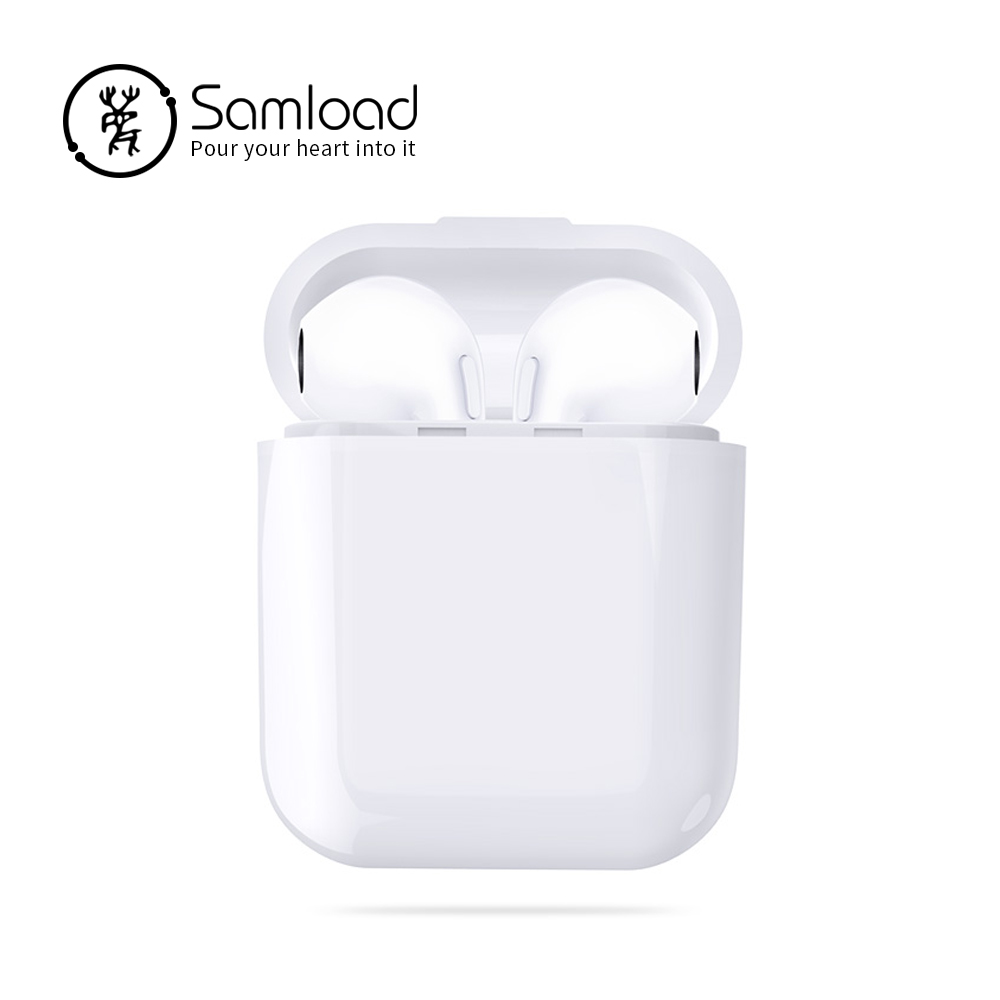 Samload TWS Wireless Double Bluetooth Earphones i7 Stereo Music Earbuds In-Ear Headphone For iPoneSE 5 6 7 8 Xiaomi Sony Samsung