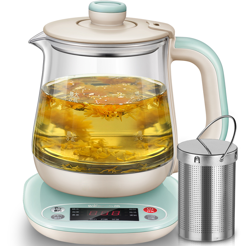 Bear 220v Automatically Multifunctional Health Pot Decocting Of Tea Glass Thickened Electric Kettle YSH-A08H1 bear health preserving pot full automatic thick glass multifunctional electric kettle tea pot ysh b18w2