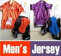 Cycling Jerseys Orange Cycling Sportswear Bike Team BIB Sets Bicycle Racing Jerseys Purple Racing Clothing Free
