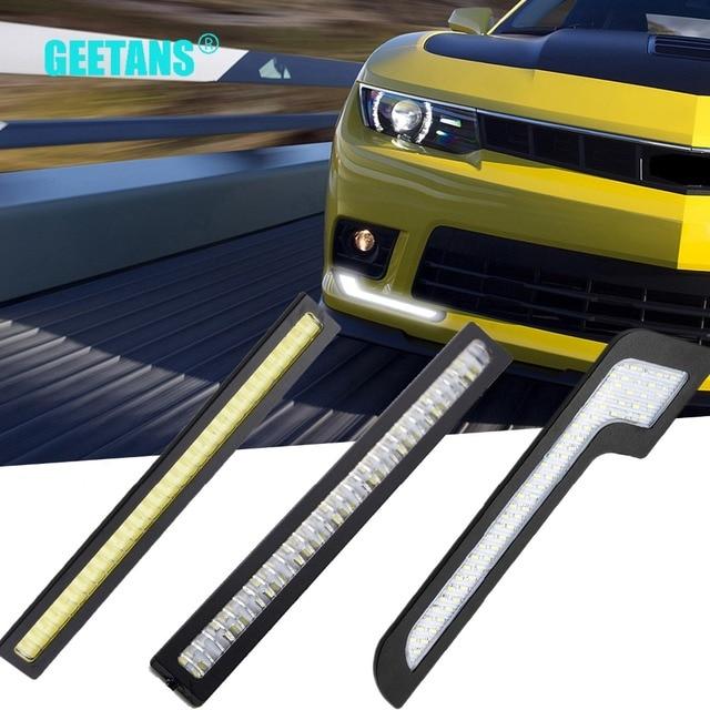 GEETANS 2pcs Waterproof Daytime Running Light LED Car Accessories DRL Car Styling DIY External Lights Super Bright 12V CE