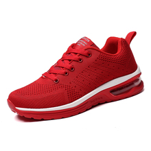 Men Running Shoes For Women Nice Zapatillas Athletic Trainers Black/Red Light Sport Air Cushion Outdoor Jogging Walking Sneakers
