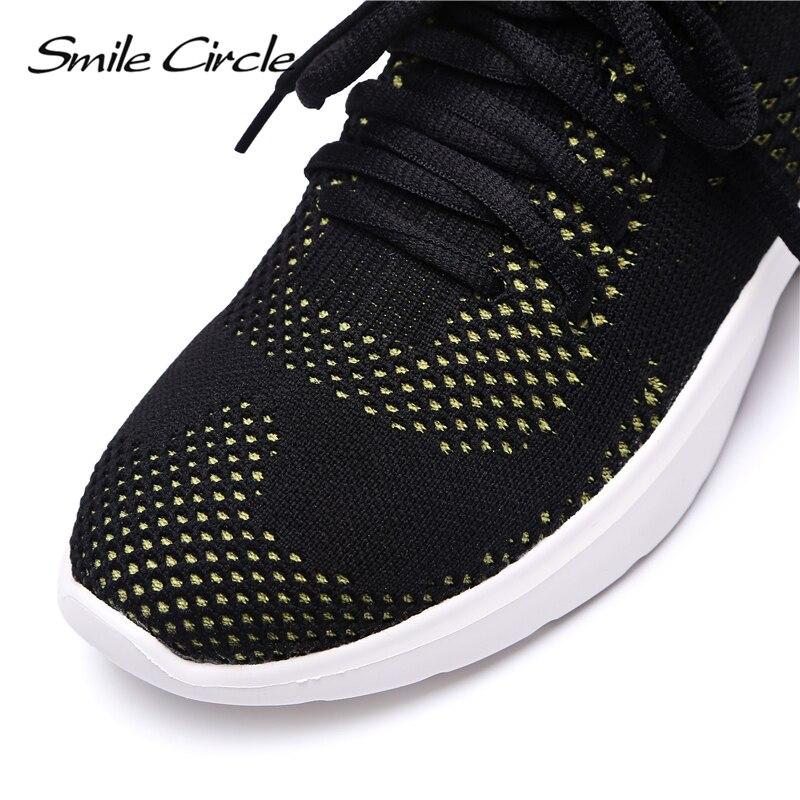 Slip Respirant Femmes top Léger jaune Cheville blanc Sourire Bottes Chaussures Cercle Haute Chaussette sur Casual Rouge Knit Sneakers Fw7Rq57