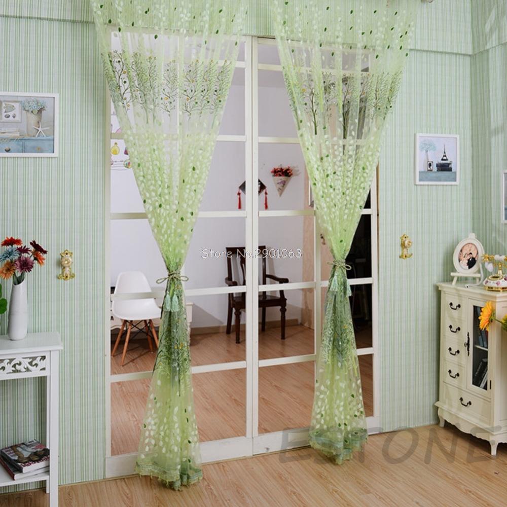 rbol elegante tul tipo voile panel pura bufanda cenefas puerta ventana de cortina cortina dormitorio ventana