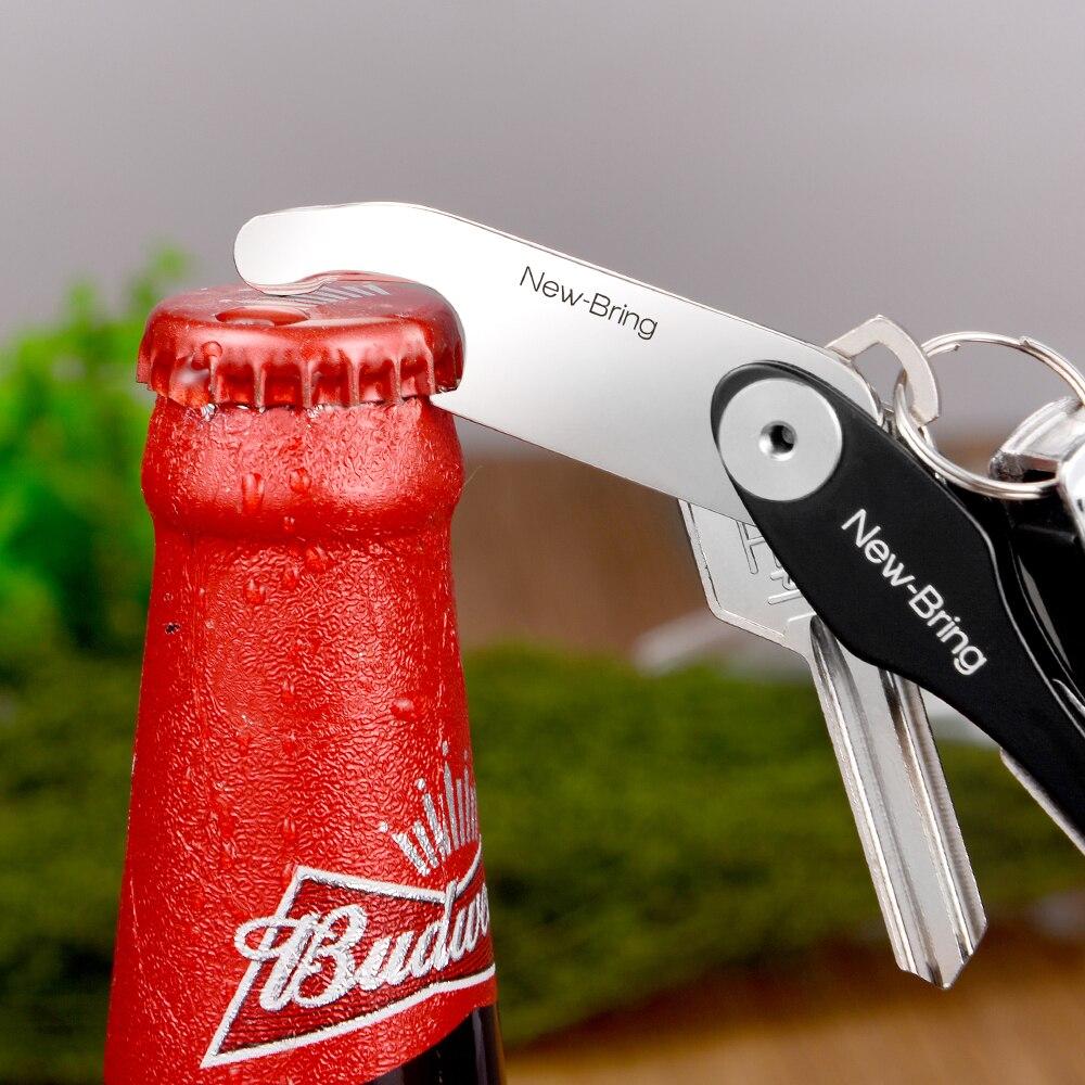 Key Organizer Metal Multifunctional Beer Bottle Opener Metal Keychain Smart Key Accessories For Key Holder