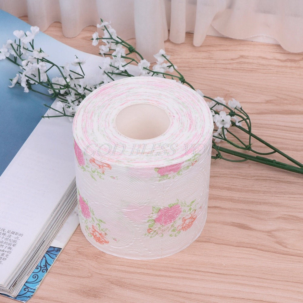 10x95cm Flower Floral Toilet Paper Tissue Roll Bathroom Novelty