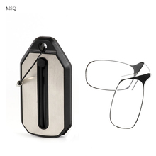 MSQ Keychain Mini Nose Clip Reading Glasses No Frame with Case 1.5 2.0 2.5 Style Thinoptic Portable Thin Frame