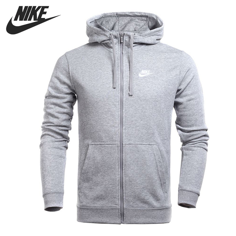 Original New Arrival 2018 NIKE NSW HOODIE FZ FT CLUB Men's Jacket Hooded Sportswear original nike men s black knitted jacket hooded sportswear