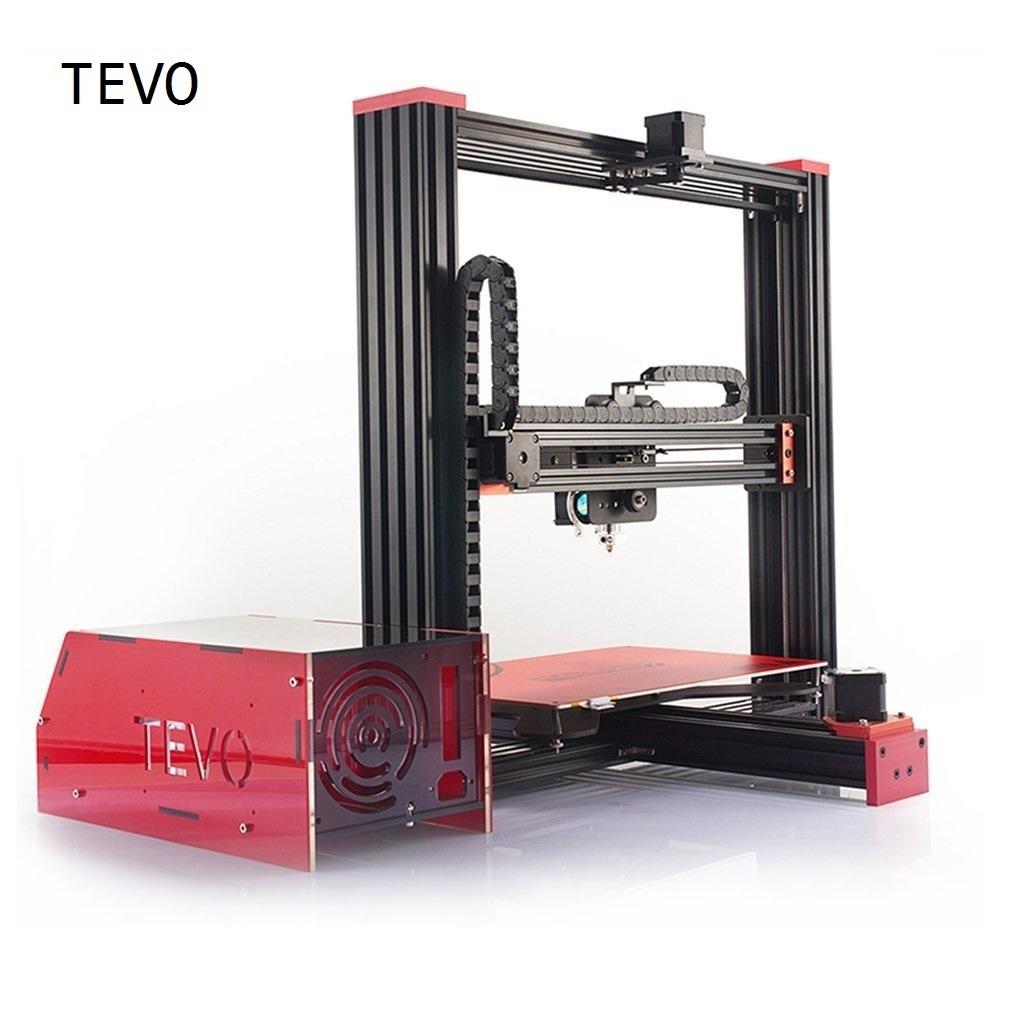 TEVO 3D Printer Diy Large Printing Area 370*250*300 Open Build Aluminium Extrusion 3D Printer Kit With MKS Touch Screen Dropship flsun 3d printer big pulley kossel 3d printer with one roll filament sd card fast shipping