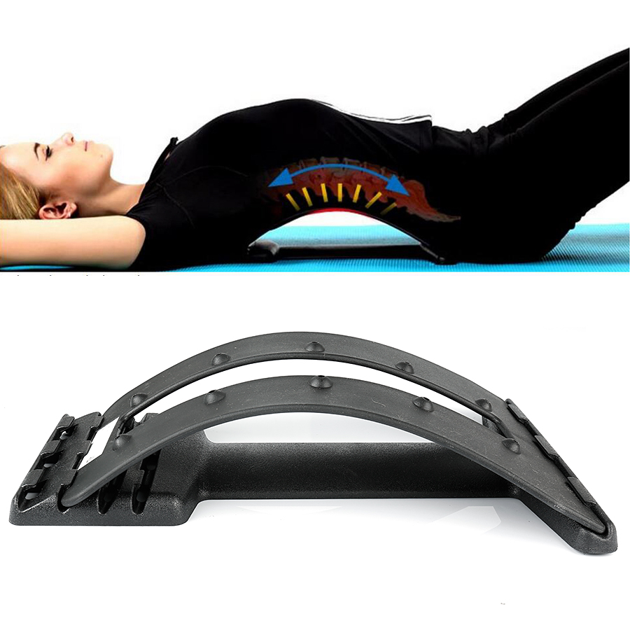 4 Gear Bending Multi-Level Back Massage Stretching Magic Back Support Stretcher Plus Waist Relax Mate Device Fitness Equipment