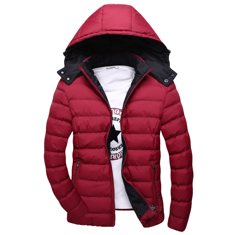 2016 New Arrival Autumn / Winter Men  Down Jacket Size M-5XL Fashion Trench Coats Hooded Design Man Casual Cotton Parkas цена 2017