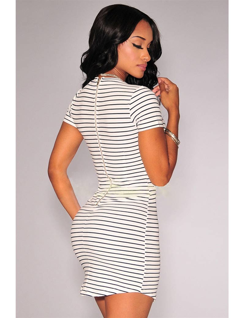 Short Striped Dresses