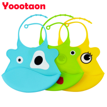 2016 new design Baby bibs waterproof silicone feeding baby saliva towel wholesale newborn cartoon waterproof aprons