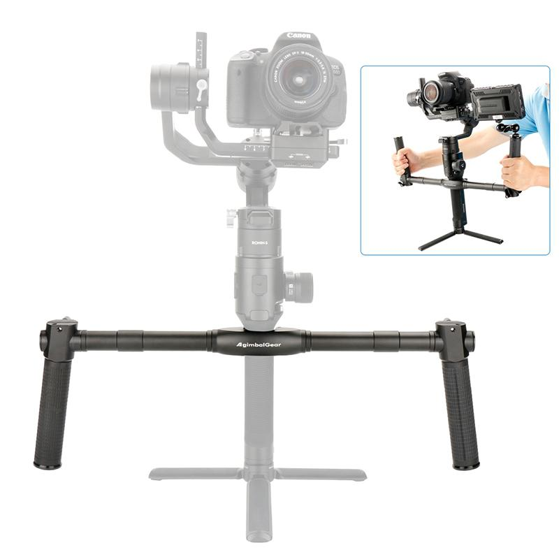 AgimbalGear Dual Handheld Gimbal Camera Stabilizerfor Dji Ronin S SC Extended Handle Grips Handbar Mount Camera Accessories
