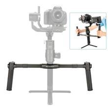 AgimbalGear podwójny kardana ręczna stabilizator kamery dla Dji Ronin S SC rozszerzalny uchwyt uchwyty uchwyt do montażu na kierownicy akcesoria do aparatu
