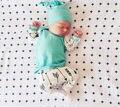 2016 Otoño 3 Unids Bebé Recién Nacido Niños Niñas Tops flecha flecha Pantalones Largos Leggings Outfit Set Ropa de Algodón Sombrero