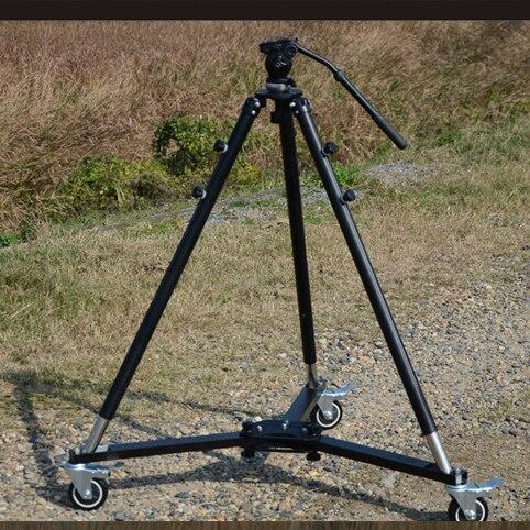 Twzz Professional 3 roues Dolly + tête à billes + trépied pour caméra Jibs caméra Rail de voie