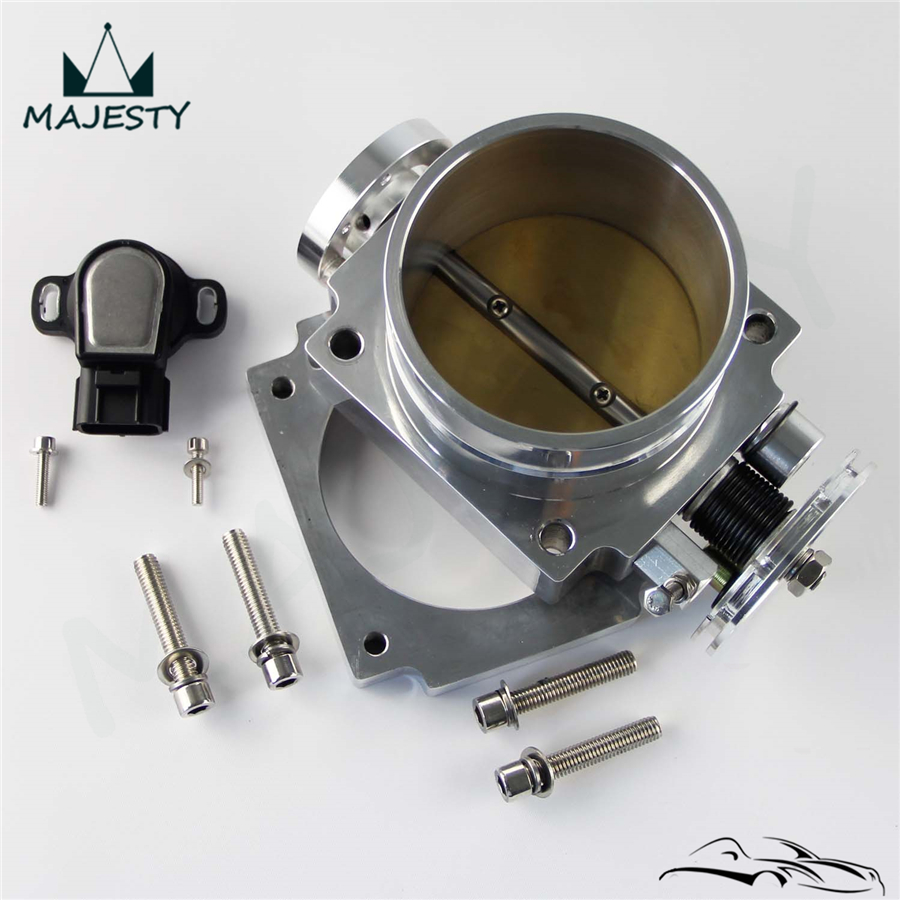 90mm Reverse Throttle Body With TPS Sensor Fit For Toyota Supra 1JZ / 2JZ  Blue /Silver / Black
