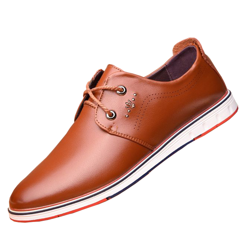 Men's  new summer leisure Korean hollow leather  all-match breathable - Men's Shoes