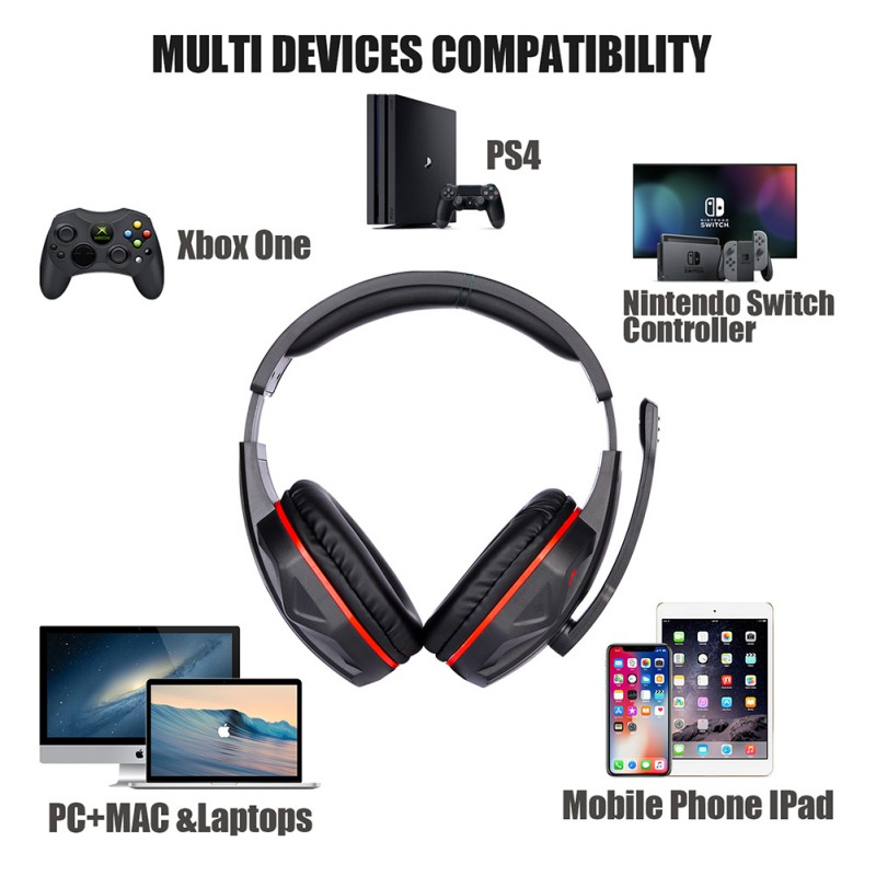 G4000 NEW Gaming Headsets Big Headphones W/Mic Stereo Earphones for Phone PC Laptop PS4 XBOX