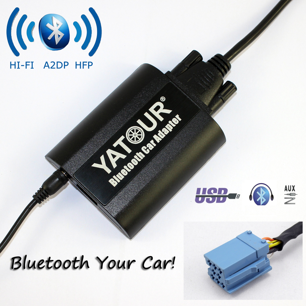 Yatour Bluetooth Car Adapter For Smart 450 Lancia Lybra Fiat Brava Bravo Marea 8-Pin Grundig  YT-BTA AUX IN HI-FI A2DP car usb sd aux adapter digital music changer mp3 converter for volkswagen beetle 2009 2011 fits select oem radios