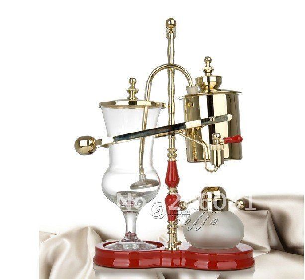 Royal balancing siphon coffee maker/belgium coffee maker,syphon coffee maker,nice champagne color ,famouse brand urnex dezcal coffee maker