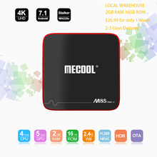Продвижение M8S Pro W 2 gb 16 gb Rom Amlogic S905W 4 ядра Smart Android 7,1 tv box H.265 Wi-Fi 2,4G 4 k Full HD IPTV tv box
