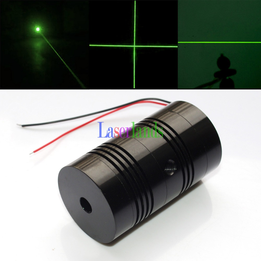 40mm Diameter Housing 100mW 150-200mW 532nm Green Dot Line Cross Laser Diode Module With Glass Lens
