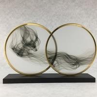 Домашний декор художественный дизайн абстрактные ремесла облачно птица круг магазин подарок на продажу Металлические Ремесла Художествен
