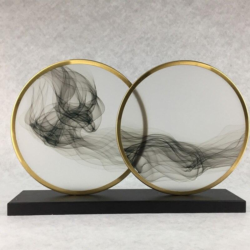 Décor à la maison art design abstrait artisanat nuageux oiseau cercle boutique cadeau en vente métal artisanat art décor designs créatifs promotionnel