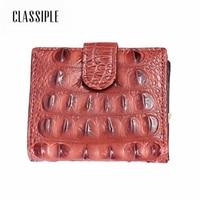 Fashion Short Women Wallet Female Genuine Leather Alligator Crocodile Female Wallet Lady Handbag Money Coin Purses Holder Girls