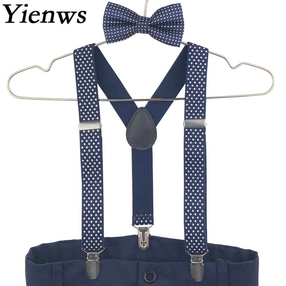 Lovely Elastic Boys Ring Bear Suspender Children Girl Wedding Wear Suspenders Baby Kids Polka Dots Braces Belt Men's Accessories Men's Suspenders