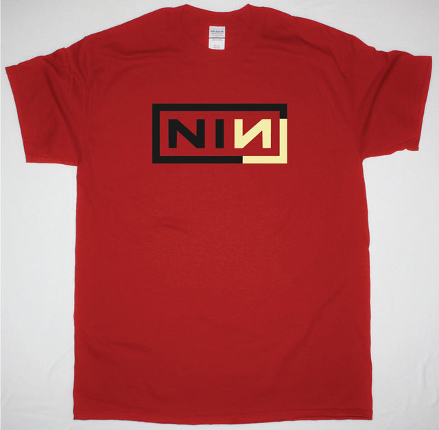 37f9706304e84 Aliexpress.com : Buy NINE INCH NAILS CORNER BOX NIN TRENT REZNOR INDUSTRIAL  METAL NEW RED T SHIRT Cool Casual Sleeves Cotton T Shirt Fashion from ...