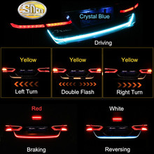 SNCN Trunk Strip Light LED Car Dynamic Tail Lights For Volkswagen Vw Passat b6 b7 CC Scirocco Polo Tiguan Beetle Golf Touareg цена